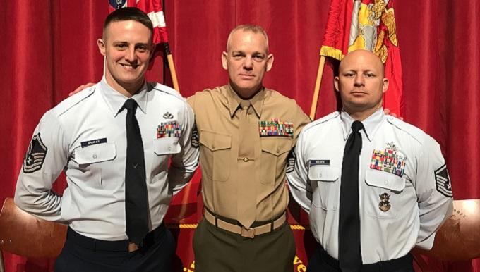 Grissom firefighter attend Gunnery Sergeant school