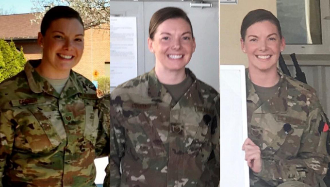 Tech. Sgt. Samantha Conner, a healthcare management technician with the 911th Aeromedical Staging Squadron at Pittsburgh Air Reserve Station in Pennsylvania, loses 46 pounds while deployed in 2017. Conner experienced a