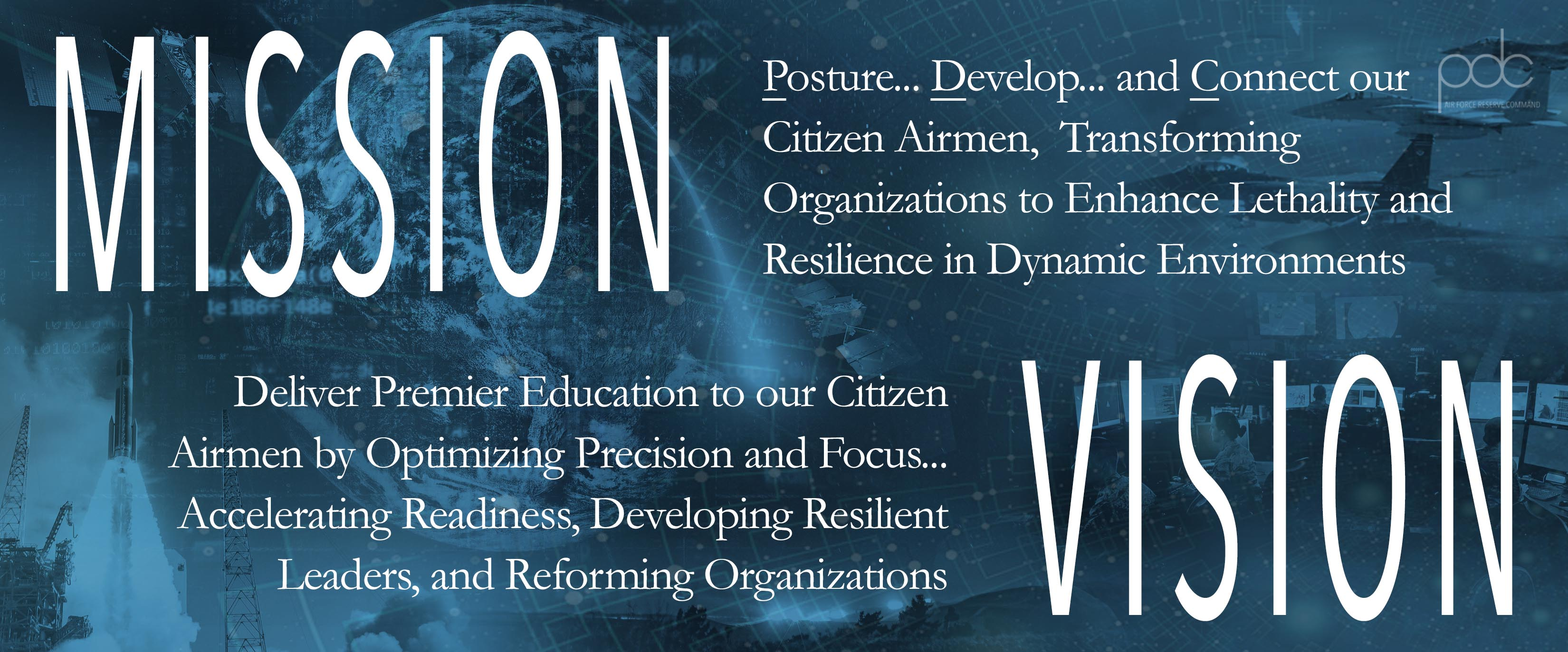 Mission and vision statement for the Professional Development Center