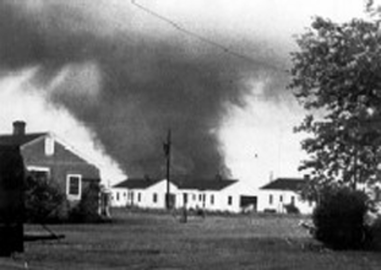 A tornado strikes Middle Georgia and Robins Air Force Base onAPril 30, 1953.
