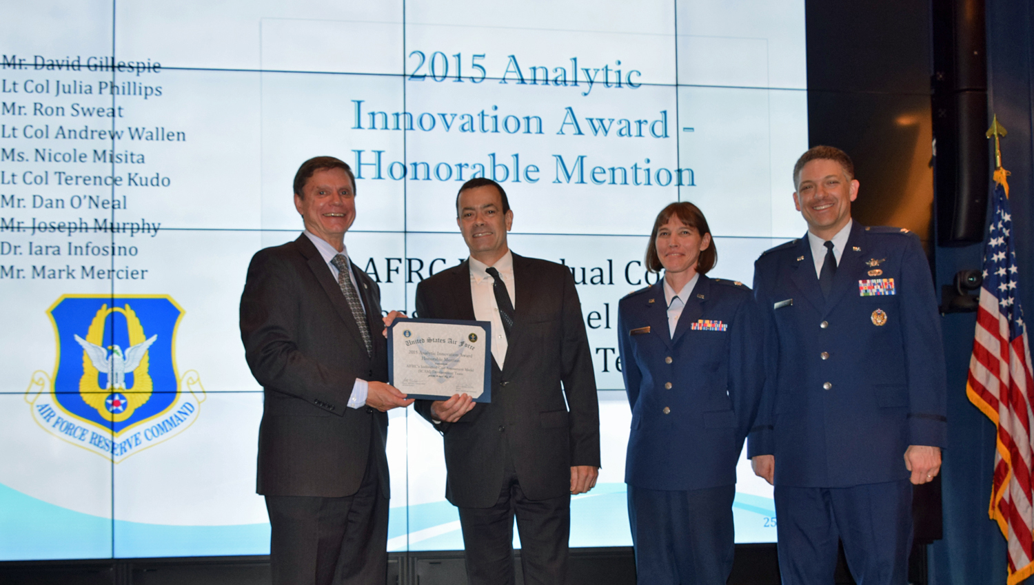 AF Ops Research Symposium Award