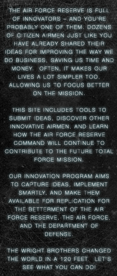 Air Force Reserve Innovation Program