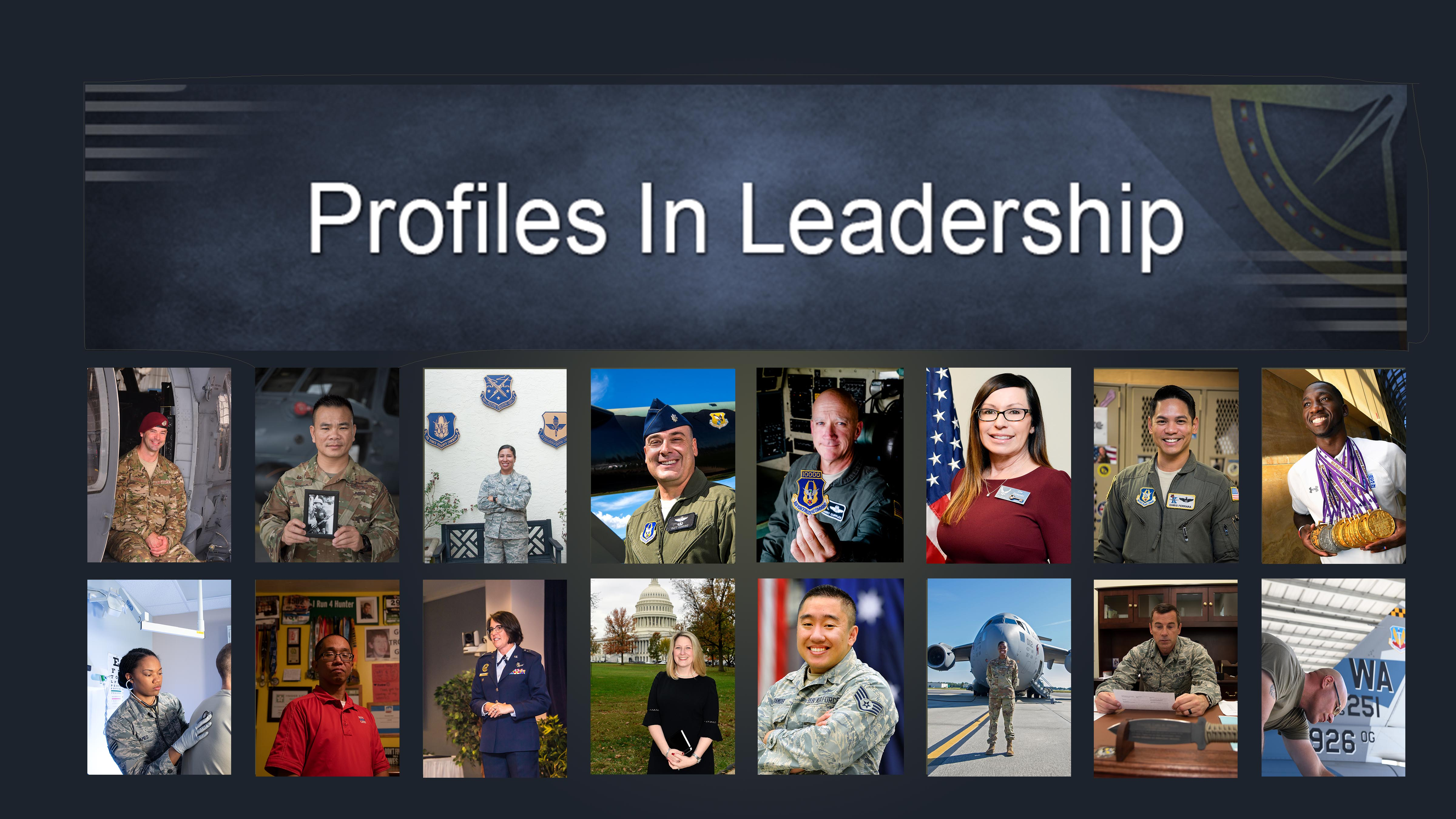 Profiles in Leadership Volume V graphic. Click on individual image for full display.