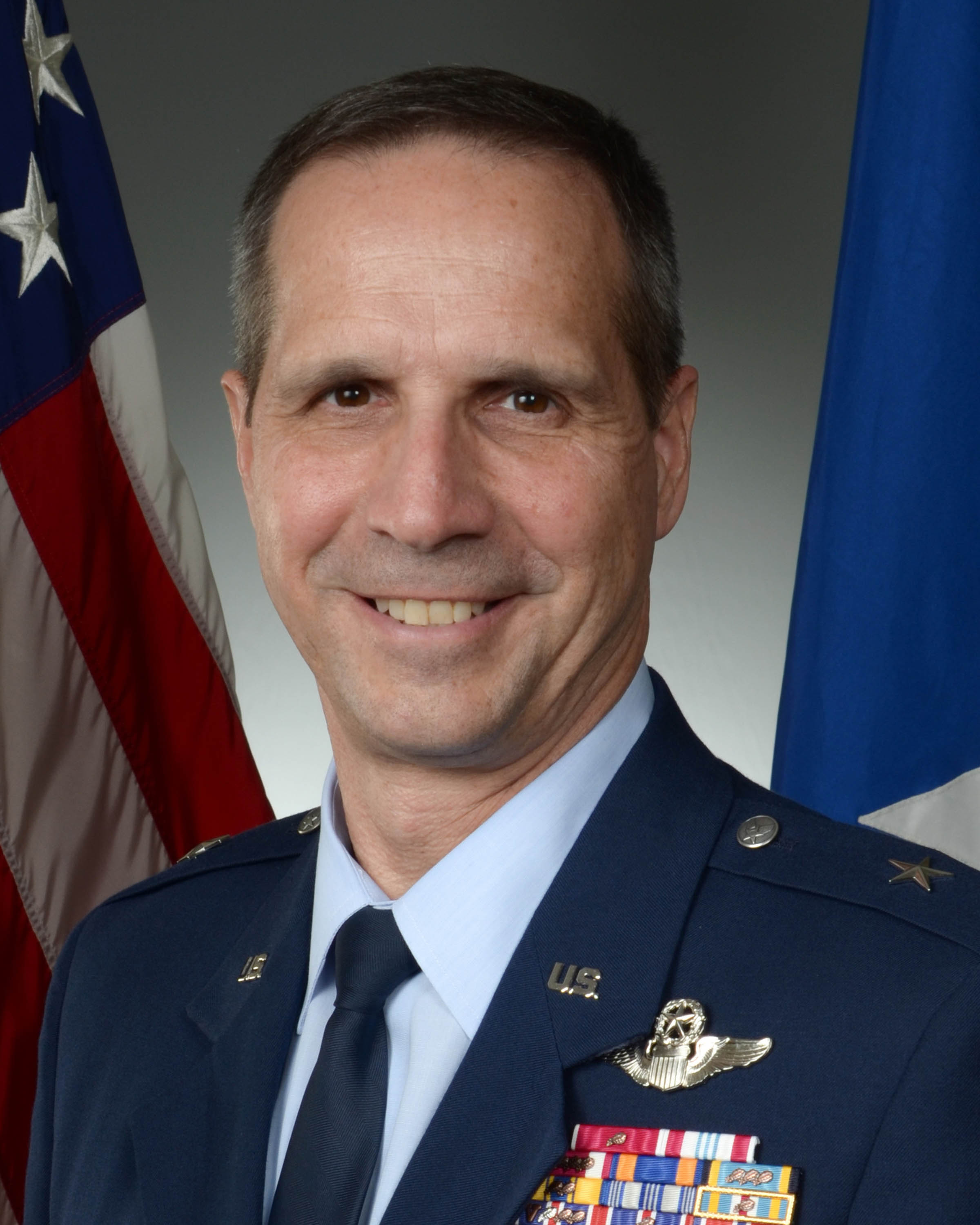 Image of 4th Air Force Commander which links to biography page