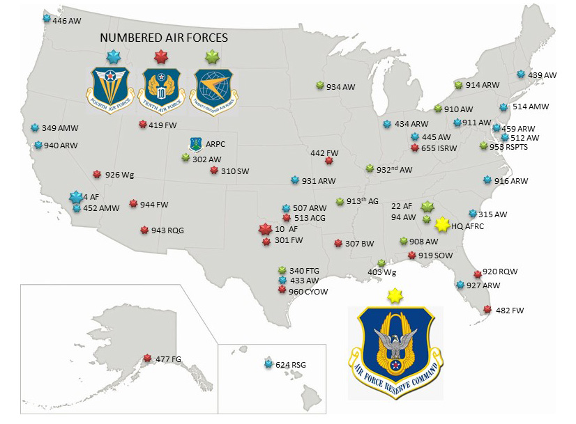 Map Of Germany Us Air Force Bases.Units